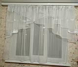 """Занавеска на кухню """"Милана"""" с одной шифоновой шторкой на карниз 2-2.5 м, фото 2"""