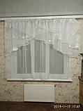 """Занавеска на кухню """"Милана"""" с одной шифоновой шторкой на карниз 2-2.5 м, фото 5"""