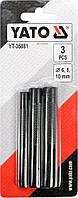 Пробойники отверстий 6-8-10 мм для кожи картона резины текстиля L = 90 мм набор 3 шт YATO YT-35881