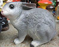Фигурка для сада Заяц серый 24 см.