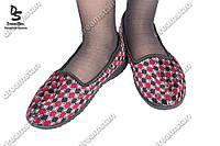 Тапочки женские текстильные комнатные оптом ( Код : К-1)