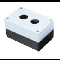 Корпус поста кнопочного белый LAY5 - 2 отверстия, CNC