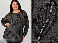 Туника женская с узором, 54-56 размер, фото 1