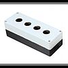 Корпус поста кнопочного белый LAY5 - 4 отверстия, CNC