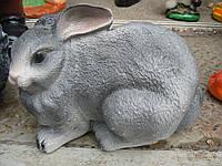 Фигурка для сада Заяц серый лежачий 21 см.