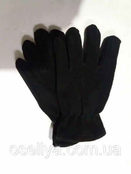 Рукавиці чорні флісові