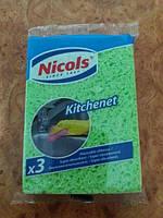 Губка Nicols kitchenet уп. 3шт.