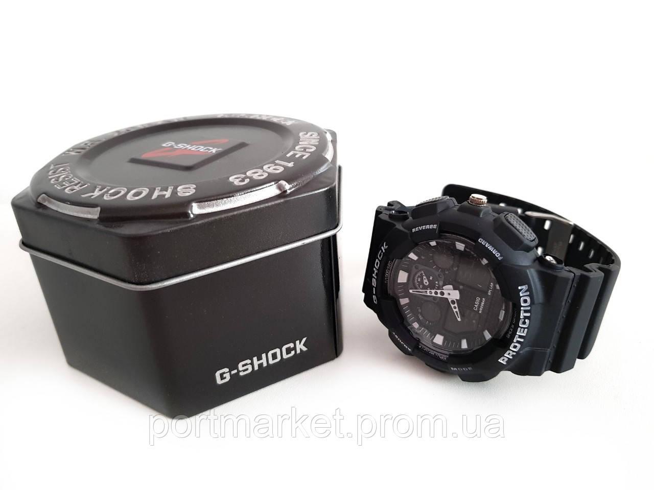 Мужские Наручные Электронные Часы в стиле Casio G-Shock GA 100 реплика