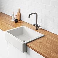 Кухонні керамічна мийка врізна IKEA Havsen 192.537.14 (білий)