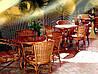 Кафе,рестораны из плетеной мебелью из лозы.