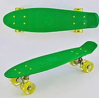 Пенни борд 55 см, СВЕТ колёса PU 6см Зеленый Скейтборд, скейт, Penny board, лонгборд для детей, подростков