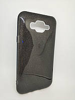 Чехол с блестками для Samsung J7 Galaxy J700 Черный