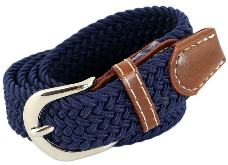 Ремінь дитячий TRAUM 8821-47, плетений, синій