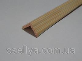 Кутник дерев'яний зовнішній 40х40х3000 мм