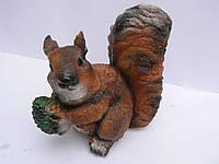 Фигурка для сада Белка с шишкой 22 см.
