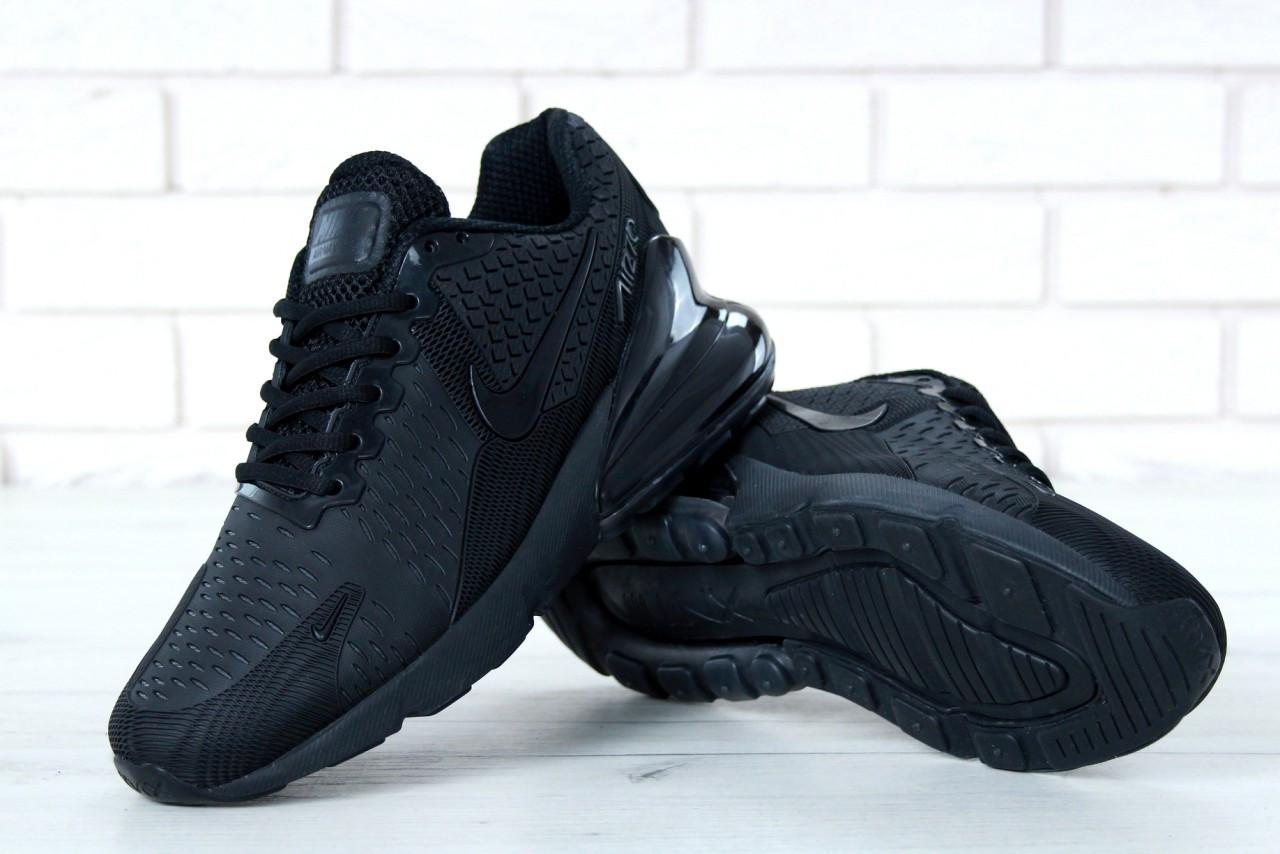 b76724a77 Черные мужские кроссовки Nike Air Max 270, кроссовки найк аир макс 270 (реплика)