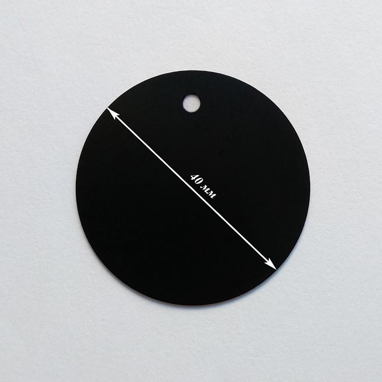 Металлическая пластина для магнитного держателя круглая (d=40мм)