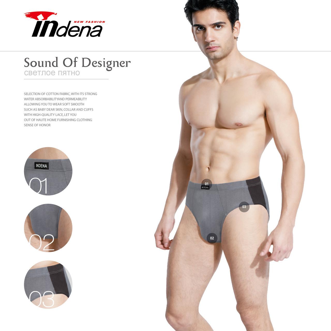 65ca765306f86 Мужские трусы плавки Indena underwear 100% хлопок два размера упаковка  3XL-4XL ТМП-2090