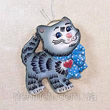 Панно настенное Котик с бантом и сердечком