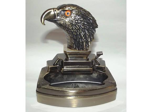 Пепельница с зажигалкой Голова орла PC3-43, фото 2