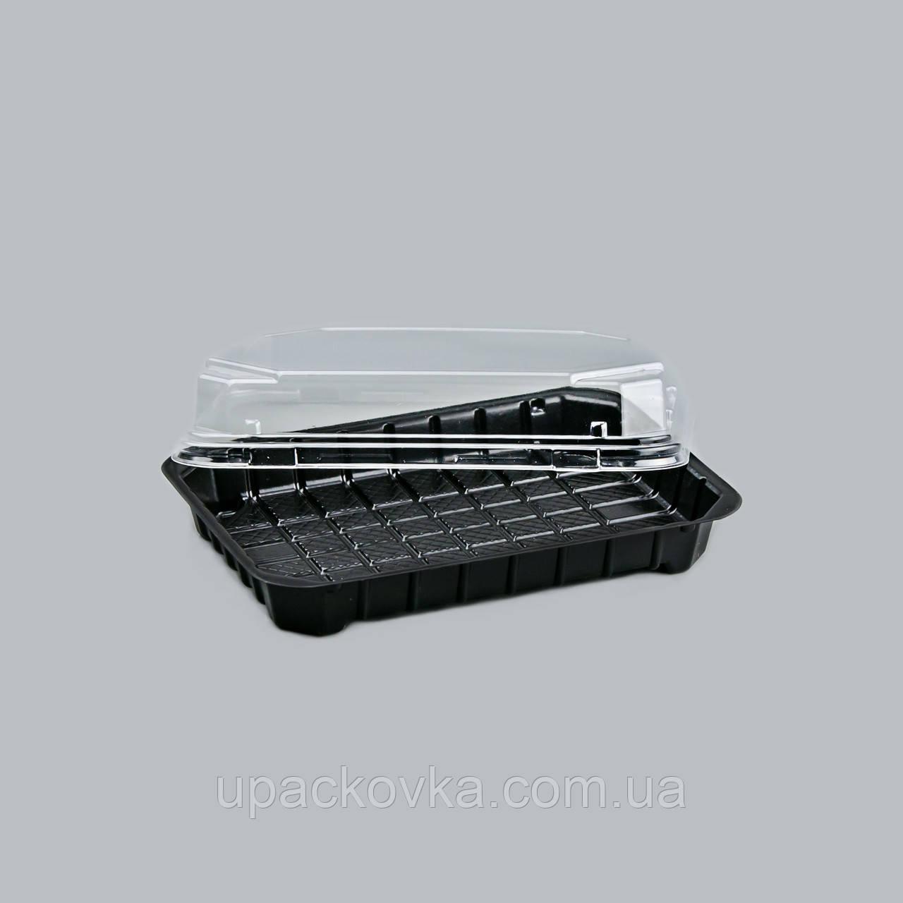 Пластиковая упаковка для суши и роллов ПС-63, 380 шт/уп
