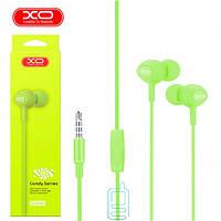 Наушники с микрофоном XO S6 зеленые