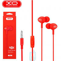 Наушники с микрофоном XO S6 красные