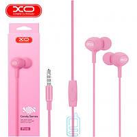 Наушники с микрофоном XO S6 розовые