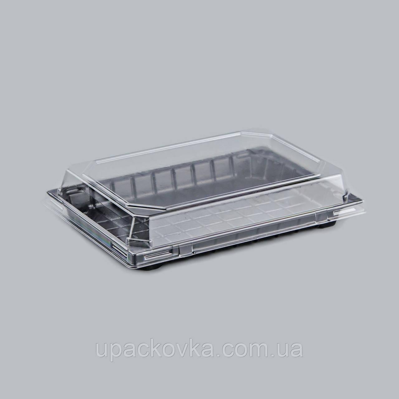 Пластиковая упаковка для суши и роллов ПС-64, 400 шт/уп