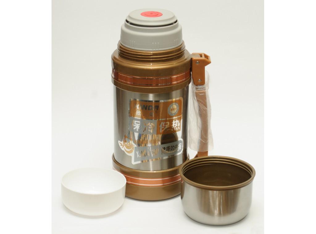 T124 Термос 1,5 л высокое качество 2 чашки