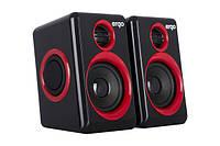 Usb 2.0 мультимедийная акустика ergo s-165 red black