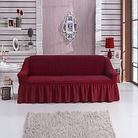 Чехол на 3-х местный диван, бордо