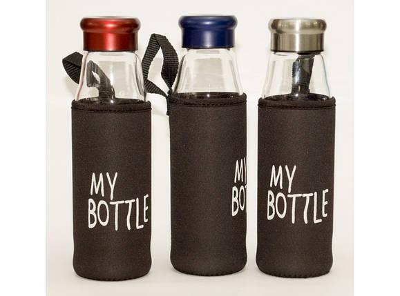 T92-3 Бутылка стекло 550 мл + чехол, фото 2