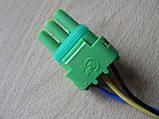 Колодка Lanos роз'єм проводки Ланос №20 датчика абсолютного тиску на 3 контакту з проводами зелена, фото 2