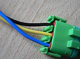 Колодка Lanos роз'єм проводки Ланос №20 датчика абсолютного тиску на 3 контакту з проводами зелена, фото 5