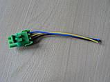 Колодка Lanos роз'єм проводки Ланос №20 датчика абсолютного тиску на 3 контакту з проводами зелена, фото 6