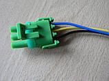 Колодка Lanos роз'єм проводки Ланос №20 датчика абсолютного тиску на 3 контакту з проводами зелена, фото 8