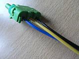 Колодка Lanos роз'єм проводки Ланос №20 датчика абсолютного тиску на 3 контакту з проводами зелена, фото 9
