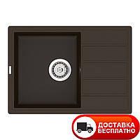 Гранитная мойка Vankor Easy EMP 02.62 Chocolate 62*44