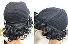 🖤 Парик из натуральных волос чёрный кучерявый каре 🖤, фото 7
