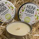 Массажная свеча для рук и тела AKUNA MATATA, Земляничная полянка, 30мл, фото 2