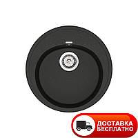 Гранитная мойка Vankor Sity SMR 01.50 Black 51 см
