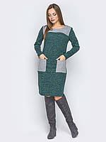 Платье туника  серый карман ангора софт 42 44 46 48 50 52 Р, фото 1