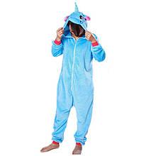 Кигуруми єдиноріг для дівчаток, блакитний