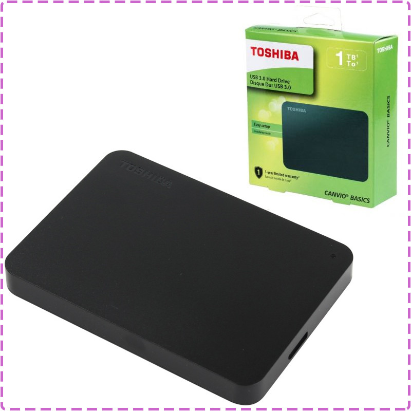 "Внешний жесткий диск 1 Tb / 1000 Gb Toshiba Canvio Basics, Black, 2.5"", USB 3.0 (HDTB410EK3AA), 1 Тб / 1000 Гб"