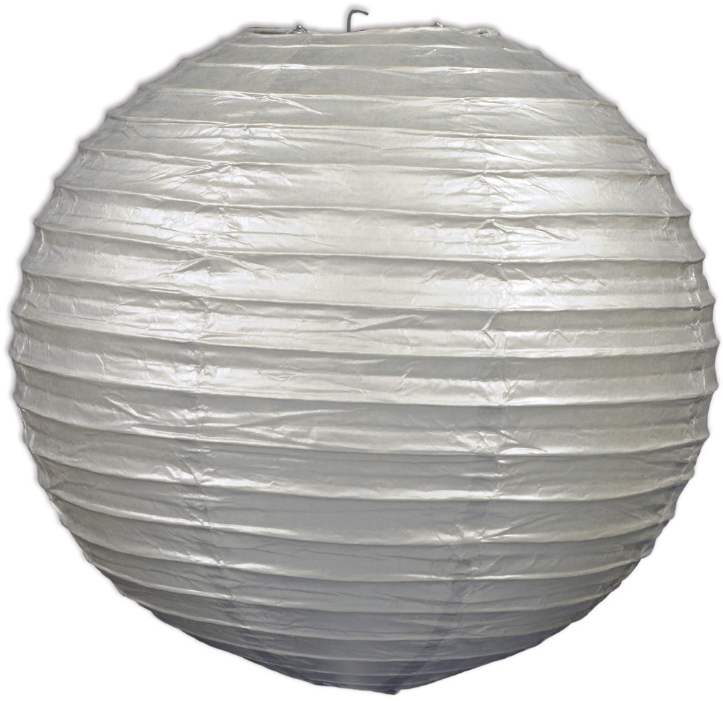 Бумажный подвесной шар серебро, 20 см