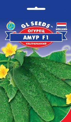 Огурец Амур F1 партенокарпик, пакет 8 семян - Семена огурцов, фото 2