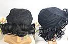 🖤 Кудрявый парик из натуральных волос, чёрный 🖤, фото 5