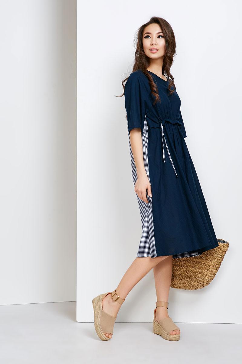 2141 платье Корсика, темно-синий (48-50)