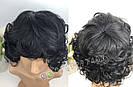 🖤 Кудрявый парик из натуральных волос, чёрный 🖤, фото 6